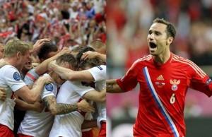 FOTO - Celebración de los goles (Blaszczykowski y Dzagóev )